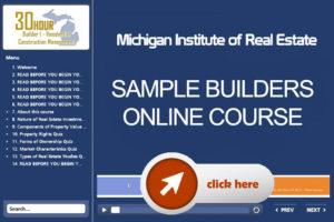 online builders course michigan